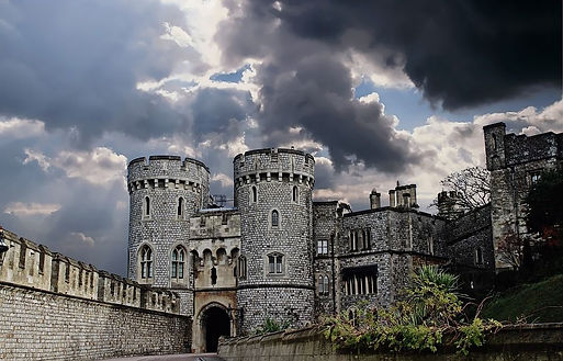 A well fortified medieval castle