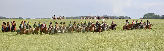 Cavalry at during the battle of Waterloo.