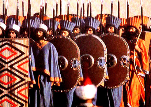 Persian soldiers in battle array