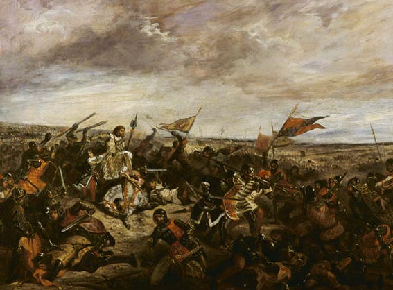 The battle of Poitiers