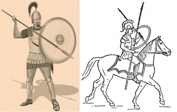 Carthaginian Soldier and Sacred Band Cavalryman