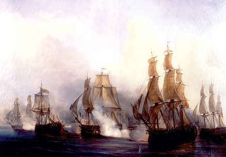 Ships at the Battle of Trafalgar