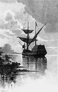 An illustration of the Duyfken