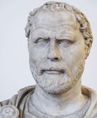 Demosthenes bust (sculpture).
