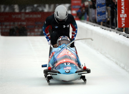 A US bobsled team at the Olympics