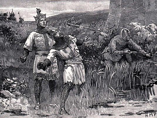 Knights attackin a caste