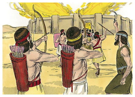 The Israelites Attack Jericho - History's Page