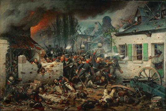 Prussian troops at Waterloo