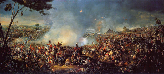 An illustration of the Battle of Waterloo