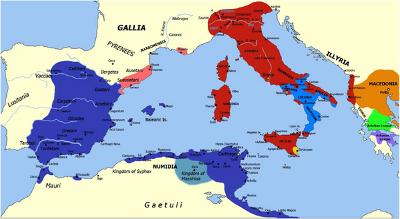 Carthage and allies and Rome and allies