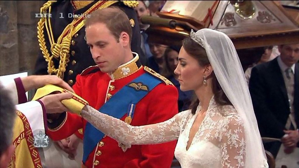 William and Kate at their royal wedding