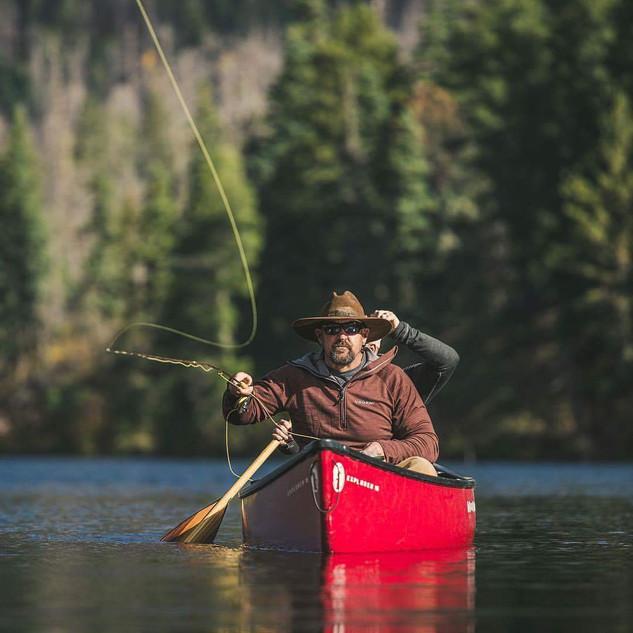Lake fly fishing at Born Lake.