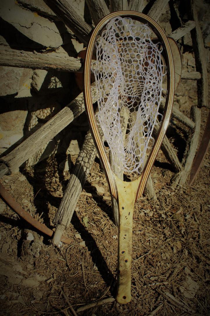 Classic Beauty of a Buckeye Burl Landing Net