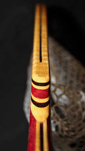 Tiger Stripped Maple and Purple Heart Landing Net