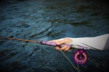 Lady Angler's Custom Bamboo Rod and Reel