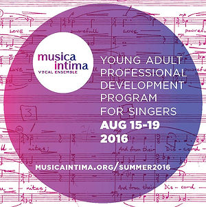 musica intima young adult professional development program 2016