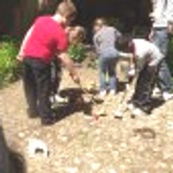 Jeux dans la cour