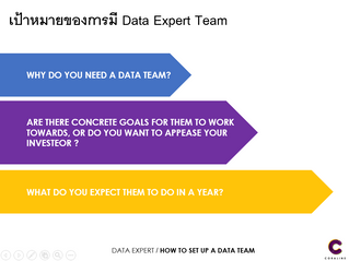 เป้าหมายของการมี Data Expert Team