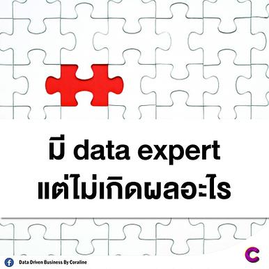 มี Data Expert แต่ไม่เกิดผลอะไร