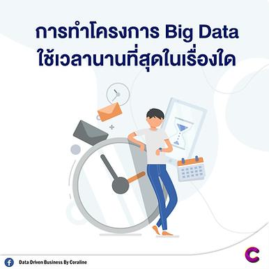 การทำโครงการ Big Data ใช้เวลานานที่สุดเรื่องใด
