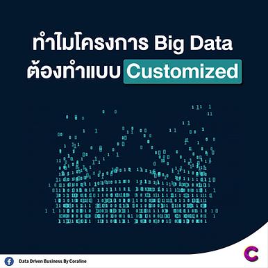 ทำไมโครงการ Big Data ต้องทำแบบ Customized