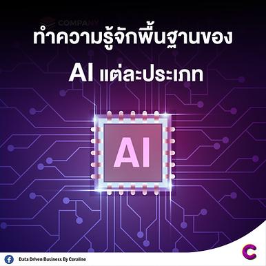 ทำความรู้จักพื้นฐานของ AI แต่ละประเภท