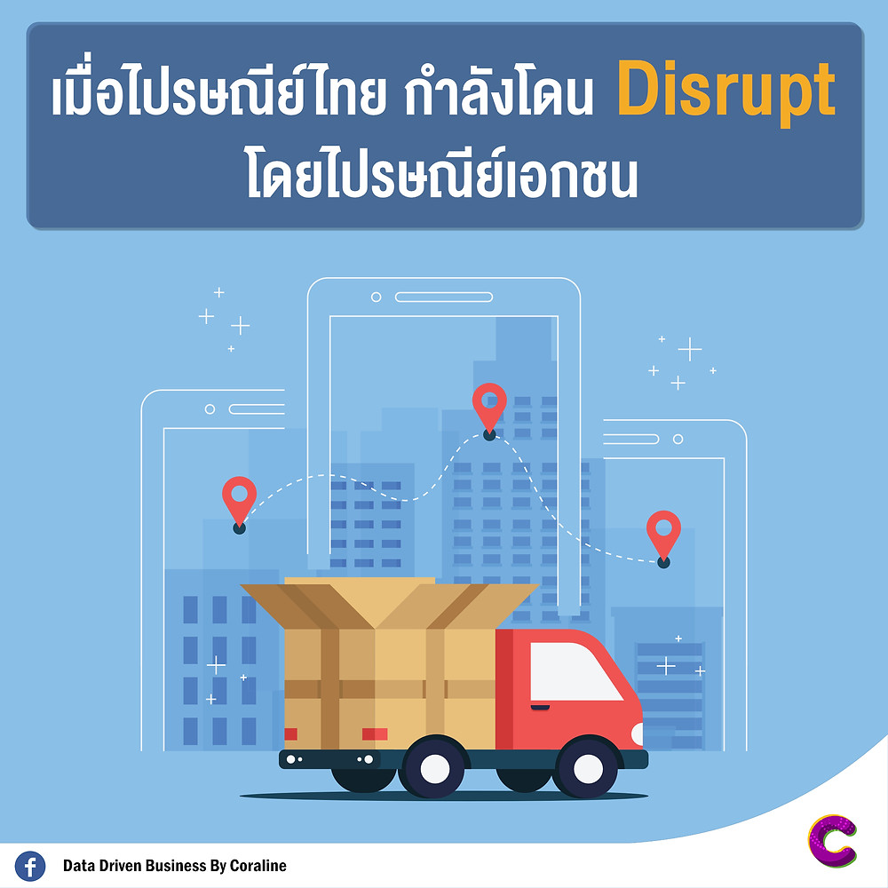 When Thailand post is Disrupted by Private Postal
