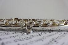 Flûte traversière et notes