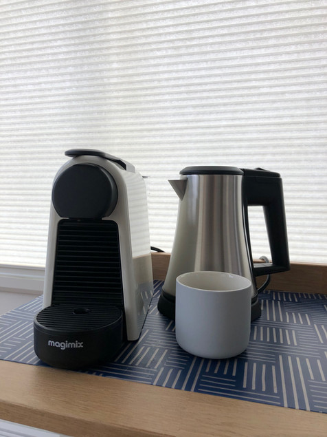 PH93 rooms have Nespresso machines and Tea kettle