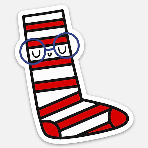 """Stripey 3"""" die-cut sticker"""