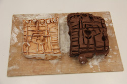 Plaster Reliefs From Clay Moulds