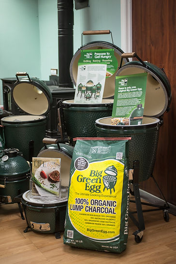 Big Green Eggs from Ronsfireside in Wilmington NC