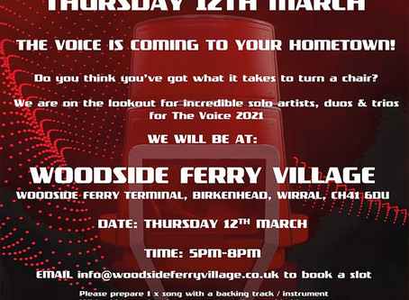 The VOICE is coming to Woodside Ferry Village