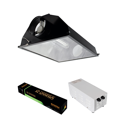 Black Air Cooled Reflector METALPRO Kit 600w