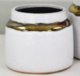 ceramic vase with metal detail