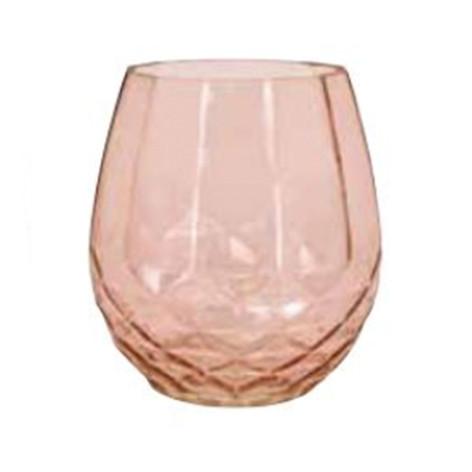 blush diamond bottom vase
