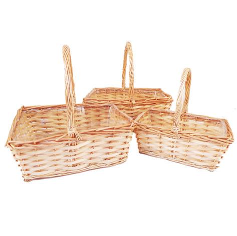 rectangular natural basket set