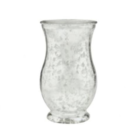 silver curved vase