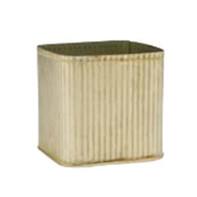 galvanized ribbed cube