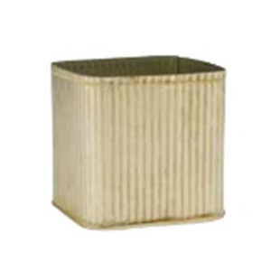galvanized ribbed cube
