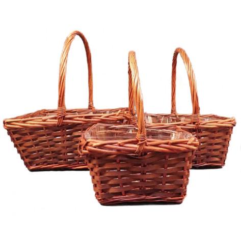 square brown basket set