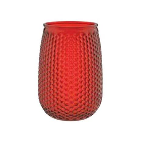 ruby embossed vase