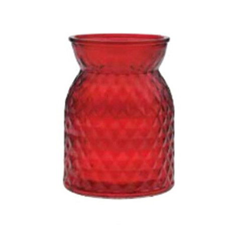 ruby diamond-cut vase