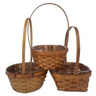 assorted shape brown basket set