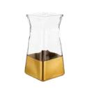 gold dip gathered square vase