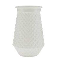 white embossed vase