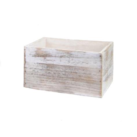 white washed box