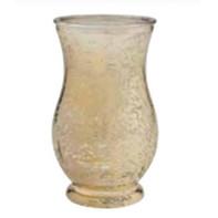 gold curved vase