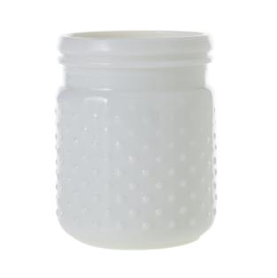 white hobnail jar
