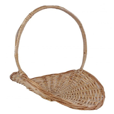brown fireside basket